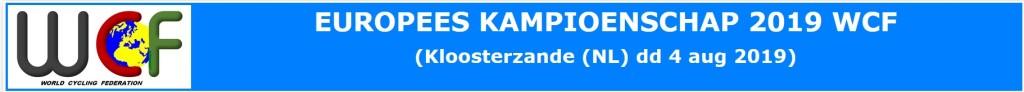 Parkoers EK 2019 Kloosterzande gewijzigd